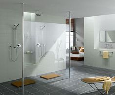 modern bathrooms roman shower 8 Modern Bathrooms: Roman Showers--love the openness and glass of the shower!