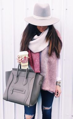 The Sweetest Thing - cozy fall outfit. need that hat!