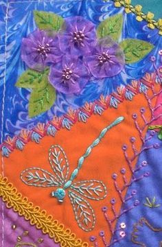 Wonderful Ribbon Embroidery Flowers by Hand Ideas. Enchanting Ribbon Embroidery Flowers by Hand Ideas. Hand Embroidery Stitches, Silk Ribbon Embroidery, Crewel Embroidery, Hand Embroidery Designs, Embroidery Patterns, Quilt Patterns, Block Patterns, Flower Embroidery, Machine Embroidery