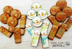Round and rectangle gingerbread men and snowmen cookies by Jill FCS