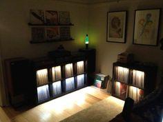 nice lighted vinyl storage
