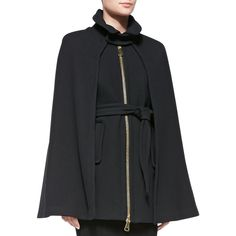 Rank & Style - Milly Sienna Belted Cape Coat #rankandstyle
