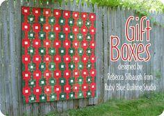 gift boxes--free pattern
