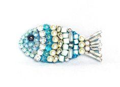 Muttertag Fisch glitzernder kleiner Schmuck Deko Fisch von LonasART, €22.00