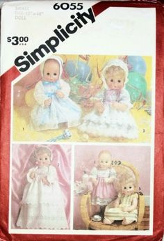 "Simplicity 15"" to 16"" Doll Clothes Sewing Pattern #6055 Simplicity http://www.amazon.com/dp/B004HIJUD4/ref=cm_sw_r_pi_dp_3kQZwb0FRT6JV"