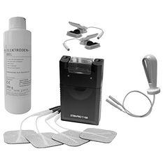 Estim Reizstrom Set. TENS Gerät T100, Vaginalsonde 02 mit Edelstahl Elektroden, Estim-Klemmen, Kontaktgel