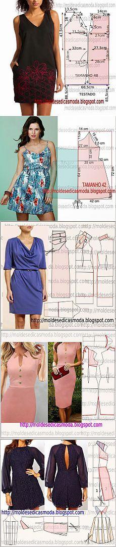 >Платье+выкройка .(15 часть)