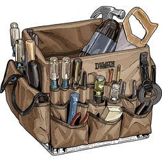 The Crate Master Tool Organizer is an apron that transforms a milk crate into a tool storage marvel with 48 pockets for a shop's worth of tools.