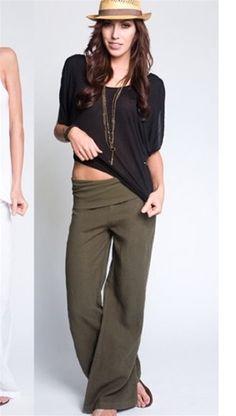 Mid-Rise Linen-Blend Wide-Leg Pants for Women Product Image ...