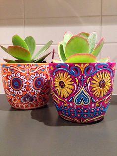sugar skull planters
