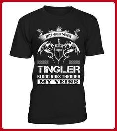 TINGLER Blood Runs Through My Veins - Shirts für singles (*Partner-Link)