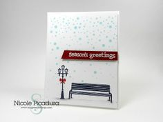 Lawn Fawn - Winter in the Park _ beautiful card by Nicole at Scraps&Stamps _ 2013 Holiday Card Series: Card #15 follow the link for a great video tutorial!