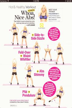 Nice Abs by Tracy Anderson Whoa! Nice Abs by Tracy Anderson Tracy Anderson Workout, Tracy Anderson Diet, Tracy Anderson Method, Anderson Arms, Standing Ab Exercises, Standing Abs, Mat Exercises, Stretching, Pilates
