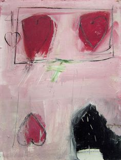 Larry Rivers (1923-2002) 4 of Hearts 1961 Oil on board 26 x 20 inches