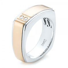 Custom Two Tone Diamond Menu0027s Band. Men Wedding RingsIrish ...