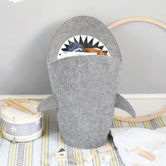 Buy the Mark the Shark Laundry Basket from our stunning Storage & Organisers collection at Red Candy, the home of quirky decor! Grey Laundry Basket, Kids Storage Baskets, Laundry Humor, Quirky Decor, Home Storage Solutions, Shark S, Home Organisation, Laundry Storage, Red Candy