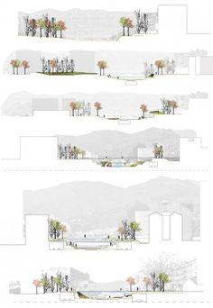Segundo Lugar Concurso De Ideas Para La Integración Urbana Del Río Guadalmedina. Landscape Architecture SectionArchitecture ...