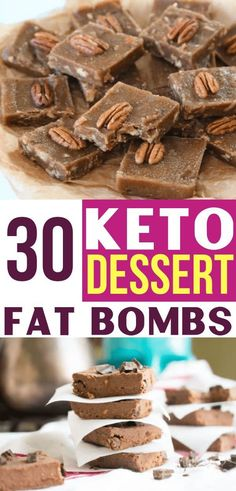 These keto fat bombs make the BEST ketogenic desserts for my low carb diet! Satisfy your sweet tooth while still keeping your keto diet! Keto Foods, Ketogenic Desserts, Ketogenic Diet Plan, Low Carb Desserts, Low Carb Recipes, Dessert Recipes, Keto Snacks, Atkins Desserts, Ketogenic Foods