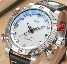 Relógio Marca de Moda de nova AMST dos homens ao ar livre 50 M à prova d' água esporte relógio de quartzo dos homens relógios de Pulso para homens relógio, frete grátis
