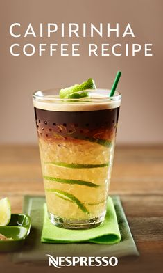 Iced coffee just got a delicious upgrade thanks to this recipe for Caipirinha Coffee from Nespresso. Coffee Drink Recipes, Tea Recipes, Cafe Menu, Frozen Coffee Drinks, Coffe Drinks, Coffee Cafe, Iced Coffee, Nespresso Recipes, In Vino Veritas