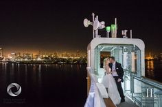 Any time you have the opportunity to take your wedding couple out for a shoot during the Reception...take it! This image was captured at my wedding for Mike and Kari aboard the beautiful, legendar...