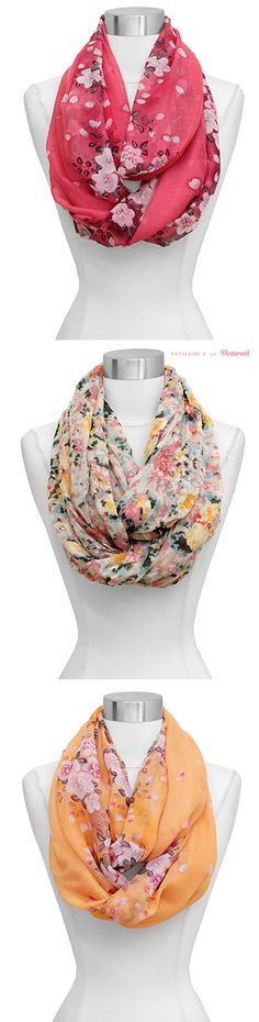 Cute, Floral Infinity Scarves