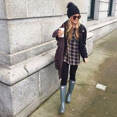 Beanie Outfit - We have had an absolute BLAST in Vancouver, Canada.now off to Seattle, WA in h. Rainy Day Outfit For Fall, Rainy Outfit, Cute Rainy Day Outfits, Cold Weather Outfits, Spring Outfits, Winter Outfits, Casual Outfits, Fashion Outfits, Cute Travel Outfits