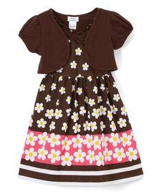 Littoe Potatoes Teal   White Floral Dress   Shrug - Toddler   Girls  596d30d9c855c