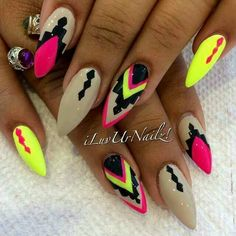 Crazy Hot Stiletto Nail art ideas #Beauty #Trusper #Tip