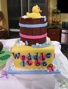 Cake: The Perfect Gender Reveal Surprise! Baby Shower Cakes, Baby Shower Gifts, Baby Reveal Cakes, Kids News, Party Central, Baby Gender, Everything Baby, Cupcake Cakes, Cupcakes