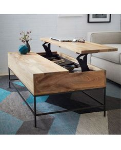 Sometimes, storage space can be few and far between, particularly in smaller apartments. Which is why pieces of furniture that boast more than one purpose are a must. Check out this multi-tasking Rustic Storage Coffee Table: it not only acts as a flat surface to