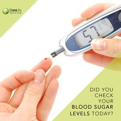 Sometimes, no matter how hard you try to keep your blood sugar in the range your doctor has advised, it can be too high or too low. Blood sugar that is too high or too low can make you very sick.  Keep a regular track on your body vitals with #DataLife #EMR services.