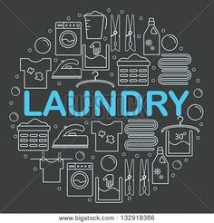 Image result for laundry  line icons