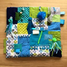 Your place to buy and sell all things handmade Fathers Day Gifts, Gifts For Dad, Fidget Blankets, Autism Support, Fidget Quilt, Blue Bath, Pom Pom Trim, Neon Green, Shades Of Blue