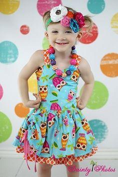 Poppy's Girls Boutique Peekaboo Dress PDF Pattern