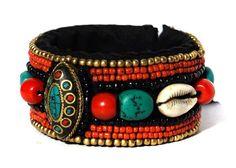 Hand Embroidered Beads Bracelet by KrishanshHandMade on Etsy