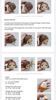 Pureco Sanguch Amigurumi Doll, Knitting Stitches, Crochet Dolls, Cool Toys, Crochet Patterns, Barn, Teddy Bear, Kawaii, Projects
