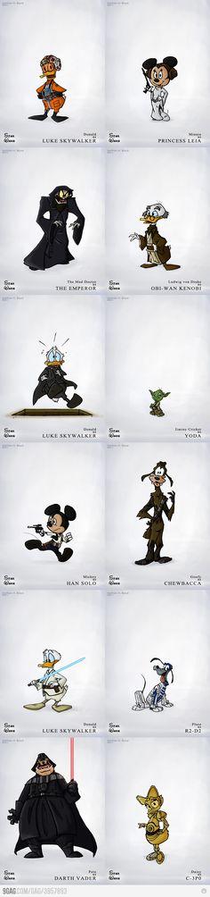 Si Star Wars fuera de Disney.