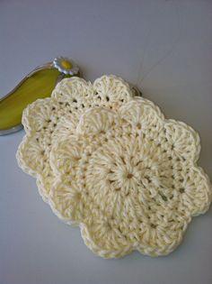Coaster Cozy Mug Rug Cream by GrammaLeas on Etsy, $5.75