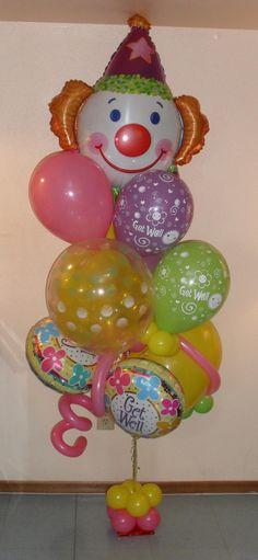 No clowning around get well soon small by http://www.balloonsandmoregifts.com/balloon-bouquets/ and visit us and like us on https://www.facebook.com/balloonsandmoregifts