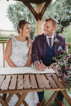 signing the register for a marriage ceremony in the gazebo at Furtho Manor Farm photo by Ben Cotterill Wedding Couple Pictures, Bride Pictures, Wedding Couples, Couple Photography, Wedding Photography, Manor Farm, Photographer Needed, Farm Photo, Rustic Wedding Venues