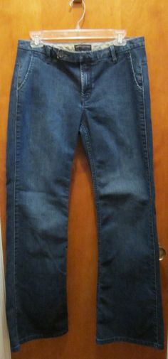BANANA REPUBLIC Womens Size 10R Regular Bootcut BOOT CUT Dark Wash Denim Jeans #BananaRepublic #BootCut