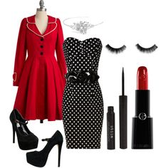 Black, red, & White ... the polka dots just MAKE it ... LOVE!