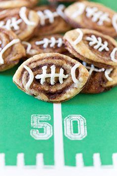 Tailgate Food: Football Cinnamon Roll Cookies FoodBlogs.com