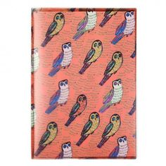 Etched owls sleeve exercise book