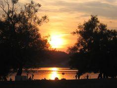 Letní západ slunce