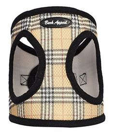 Bark Appeal Mesh Step in Harness, XX-Large, Tan Plaid * You can get more details by clicking on the image. #CatCollarsHarnessesandLeads