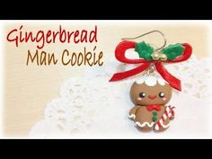 ▶ Christmas Gingerbread Man Cookie Charm Polymer Clay Tutorial by FlyingMio