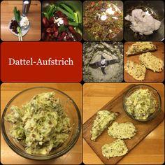 Dattel-Aufstrich * Dattel-Dip200 g Frischkäse100 g getrocknete, entsteinte Datteln2 Frühlingszwiebeln1 Prise SalzDatteln und die in Stücke geschnittenen Frühlingszwiebeln in den Mixtopf gebe…