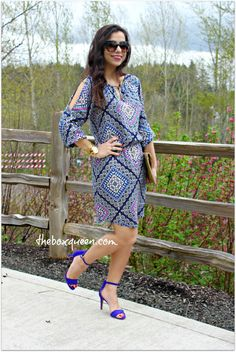 STITCH FIX REVIEW APRIL REVIEW & $75 GIFT CARD GIVEAWAY, How to Wear A Cold Shoulder Dress, Outfit Idea